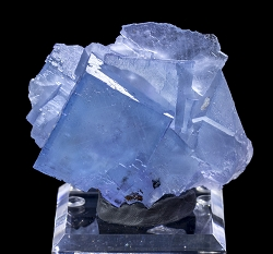 Blue Fluorite with Calcite & Galena