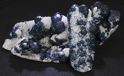 Beautiful Blue Fluorite on White Quartz