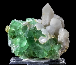 Large Green & Yellow Fluorite & Quartz