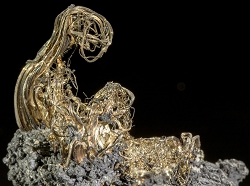 Wire Silver on Acanthite