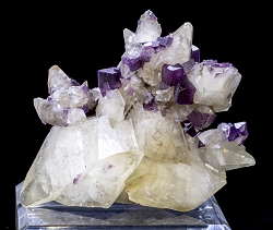 Fluorite on Calcite Cluster