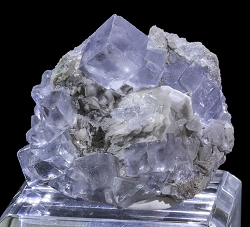Glassy Blue Fluorite with Barite