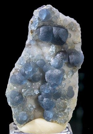 Botryoidal Blue Fluorite on Quartz