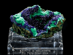 Azurite & Malachite from China