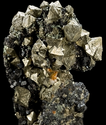 Pyrite & Magnetite from Brosso Mine, Italy