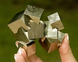 12 Pyrite Cube Cluster
