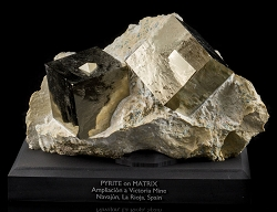 Large Pyrite Cubes on Matrix from Spain