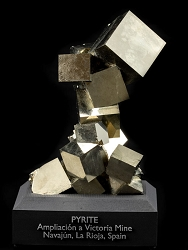 16 Cube Pyrite Cluster from Spain