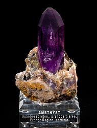Amethyst on Matrix from Namibia