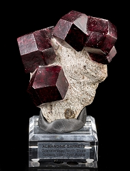 Almandine Garnets on Matrix