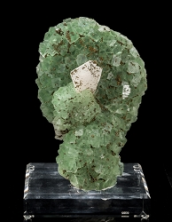 Pyrite on Fluorite & Calcite
