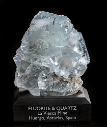 Clear Spanish Fluorite with Quartz