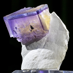 Phantom Fluorite on Barite