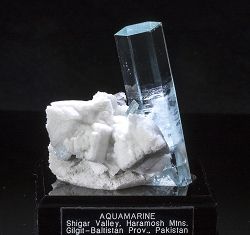 Perfect Double-Terminated Aquamarine & Albite