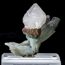 Scepter Quartz on Prase Quartz