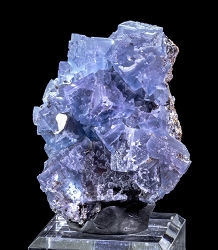 Stepped Blue Fluorite / Sphalerite