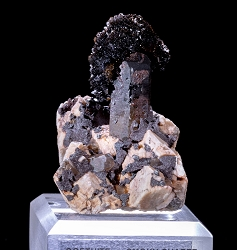 Goethite on Smoky Quartz & Microcline