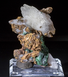 Calcite and Malachite