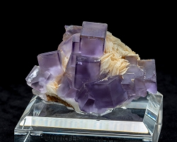 Fluorite on Baryte