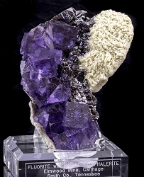 Phantom Fluorite & Barite on Sphalerite
