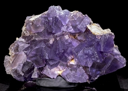 Large Purple Fluorite with Barite
