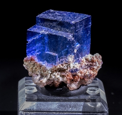 Blue Halite on Matrix