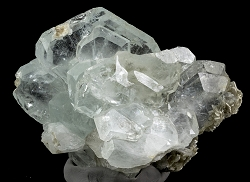 Tabular Aquamarine Cluster with Muscovite