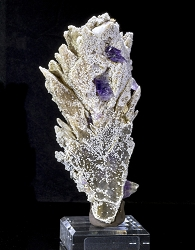 Amethyst on Gypsum