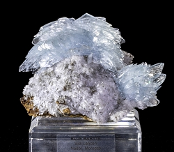 Blue Baryte & Baryte on Limonite
