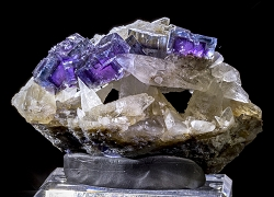 Phantom Fluorite on Calcite w/ Strontianite