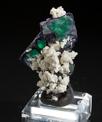 Green & Purple Fluorite & Dolomite