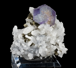Shangbao Fluorite & Quartz on Pyrite