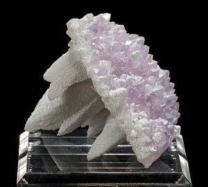 """The Molar"" Calcite on Amethyst Oddity from Mexico"