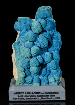 Azurite & Malachite on Botryoidal Sandstone
