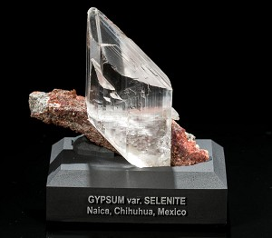 Water-Clear Selenite on Matrix from Mexico