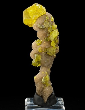 Sculptural Sulphur & Aragonite from Italy