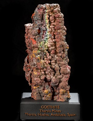 Large Iridescent Goethite Stalactite from Spain