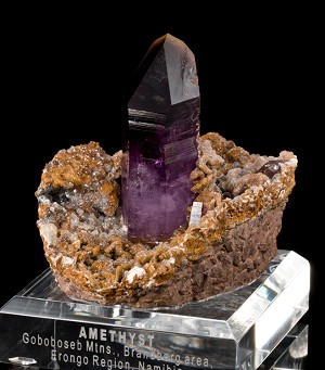 Grape Jelly Amethyst on Siderite from Namibia