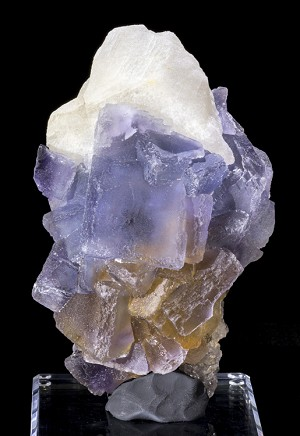 Large Spanish Fluorite with Calcite