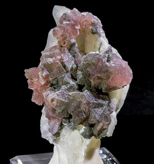 Swiss Pink Fluorite & Chlorite on Calcite